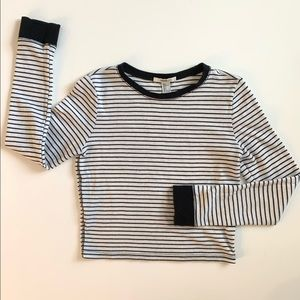 Forever 21 Black and White Striped Crop Top Bundle